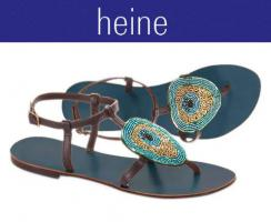 heine - Dianette mit Perlen bunt Gr. 35 - OVP - NEU