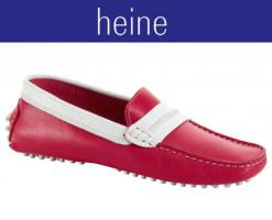 heine - Mokassin rot-weiß Gr. 36 - OVP - NEU