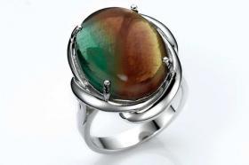 heine - Silber-Ring mit Fluorit bunt Ring-Gr. 16 - OVP - NEU