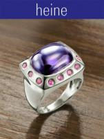 heine - Silber-Ring mit Zirkonia lila Gr. 15 - OVP - NEU