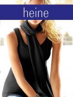 Foto 2 heine - Vichy-Bluse, Top und Schal schwarz-weiß Gr. 40 - OVP - NEU