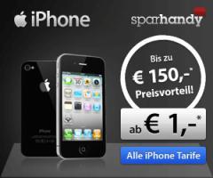 iPhone4 ,16 oder 32 GB ab 1 Euro