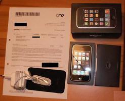 iPhone, G3 16 GB, schwarz, für alle Netze, Rechnung vom Jan.09
