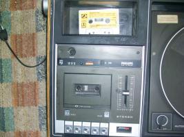 Foto 3 ich biete einen schallplattenspieler mit kassetenspieler, radio und 2 boxen an + alle meine schallplatten
