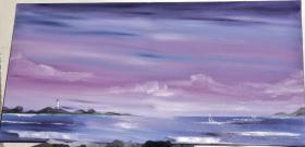 insel im meer mit leuchtturm und segelbooten