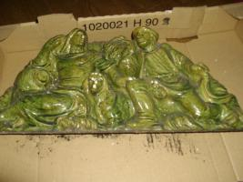 Foto 2 kachelofen  grün  ca 50 j alt