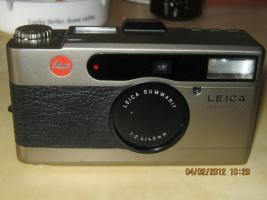 Foto 2 kameras leica, canon, sigma zu verkaufen