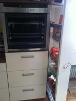 Foto 3 komplette Küche beige/nussbaum zu verkaufen