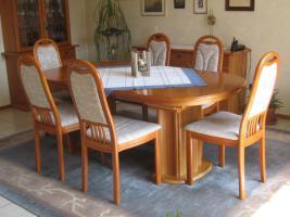 komplettes Eßzimmer Kirschbaum, sehr gut erhalten