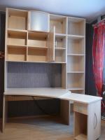 Foto 2 komplettes Jugendzimmer Bett, Eckkleiderschrank, Schreibtisch, Anbauwand