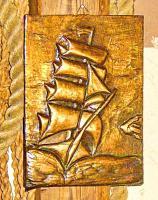Foto 5 kupfer relief bild segelschiff