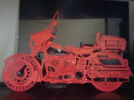 Foto 3 lasergeschnittenes Edelstahl Motorrad