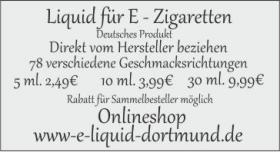 liquid für E - Zigaretten