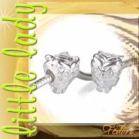 little lady Bead Owl 925 Sterling Silber