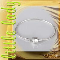 little lady Clip-Armband für Beads 925 Sterling Silber ca. 18 cm