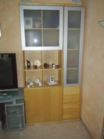 Foto 3 moderne Wohnzimmerwand in Buche Hell