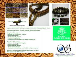 muslimischen Gebetskette aus verschiedenen Holz und Stein