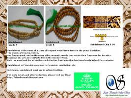 Foto 2 muslimischen Gebetskette aus verschiedenen Holz und Stein