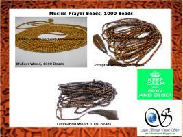 Foto 3 muslimischen Gebetskette aus verschiedenen Holz und Stein
