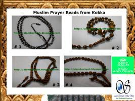 Foto 4 muslimischen Gebetskette aus verschiedenen Holz und Stein