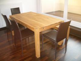 neuwertige Esszimmermöbel-Tisch, Ansteckplatten, Sitzbank,4 Stühle