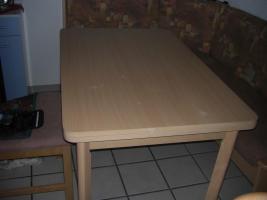 Foto 4 neuwertige Kücheneckbank mit ausziehbaren Tisch   zwei Stühle, modernes Desing, wenig benutzt, da ich den ganzen Tag arbeite. NP 600%u20AC Preis verhandelbar  Weber Kirchstraße 15 79804 DOGERN Tel. 077513063257
