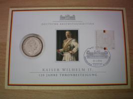 numisblätter mit münzen