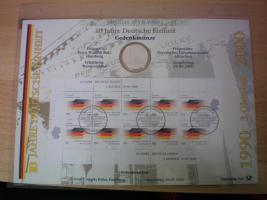 Foto 3 numisblätter mit münzen