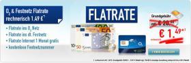 o2 Offensive: Nur 1,49 monatlich für o2 Flatrate + Festnetz Flatrate + kostenlose Festnetznummer SIM Karte only nur unglaubliche 1,49 Euro (anstatt 20 Euro) monatlich, keine Anschlußgebühr