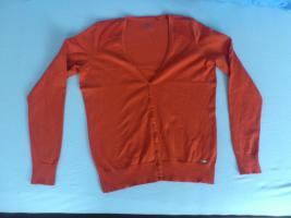 orangefarbener Cardigan von Essentials by Esprit