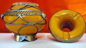 Foto 3 orientalischer keramik aschenbecher