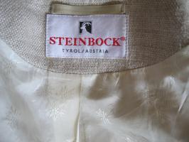 Foto 4 original STEINBOCK Leinen Trachtenjacke Gr 42 WIE NEU
