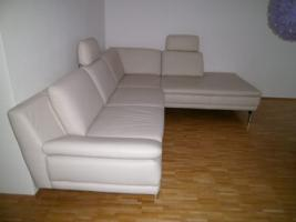 Foto 3 porezellanfrabenes Ledersofa 2-Sitzer