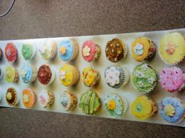 riesenposter mit muffins