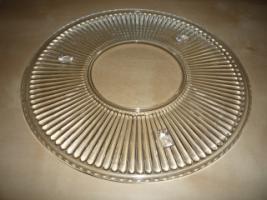 runde Kuchenplatte aus Glas