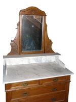 schöne alte Spiegel-Kommode
