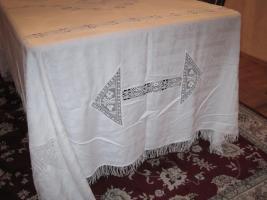 Foto 2 schöne alte Tischdecke