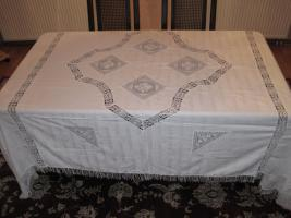 Foto 3 schöne alte Tischdecke