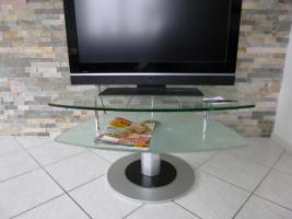 sch�ner Fernsehtisch aus Glas