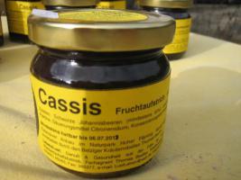 Foto 2 schwarze Johannisbeer Fruchtaufstrich 230g mit 75% Fruchtanteil