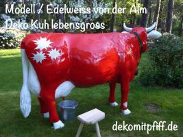 Foto 2 schweizer deko kuh und dann sie auf der Alm aufstellen ….