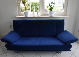 sehr gut erhaltene Rolf Benz Couch mit Sessel und Hocker