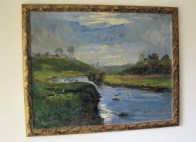 sehr schönes Öl Gemälde... Landschaft