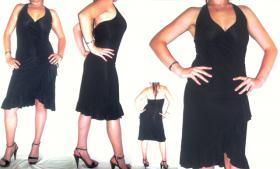 sexy Salsa Kleid Cocktail Minikleid schwarz XS S M neu