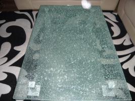 Foto 5 sitygarnitur leder bej 3,2 hocker coch tisch glas