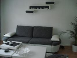 Foto 4 sofa gruppe echtleder+stoff