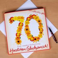 stilvolle Glückwunschkarte zum 70. Geburtstag
