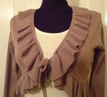 Foto 2 s��e Kurz- Weste zum Binden, Gr. 36/38;-NEU-,  braunton, super passend zu vielen Kleidungsst�cken, -NEU mit Etikett,