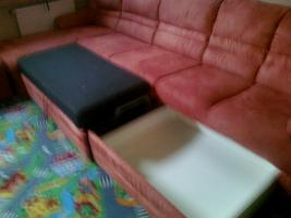 Foto 3 terrakotter fabene sitztganitur mit schlaffunktion