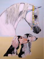tolle gemalte Bilder WÜSTENARABER MIT SALUKI ZU VERKAUFEN...mach Dein Leben bunter:)